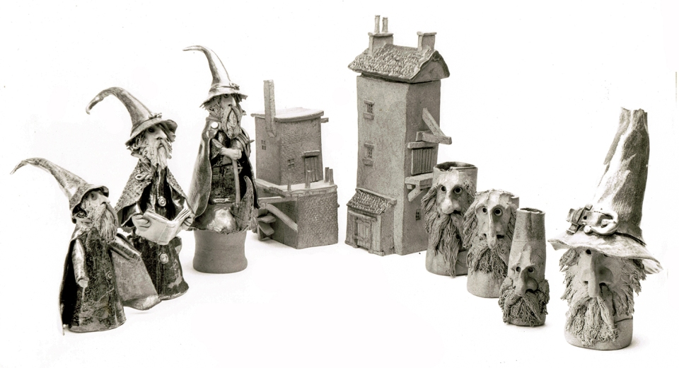 The first style of wizard, troll pots and strange buildings.